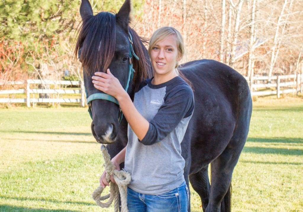 Horses as helpers and healers, horse therapy, Dunrovin Ranch Montana